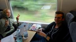 Mit Aron: Zugfahrt nach Bad Elster